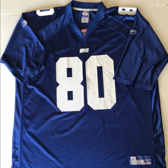 reputable site 66adf 263a8 NFL NY Giants Jeremy Shockey Blue Jersey 2XL